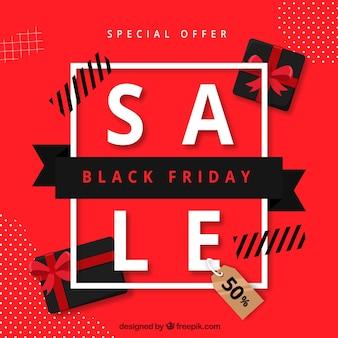 Red black friday sale background