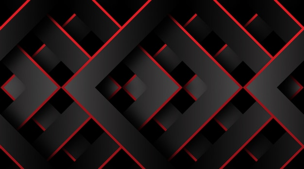 Red and black geometric 3d background