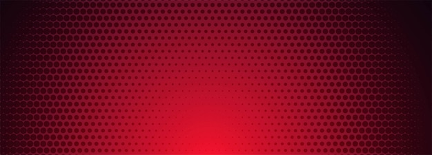 Red and black halftone pattern banner background