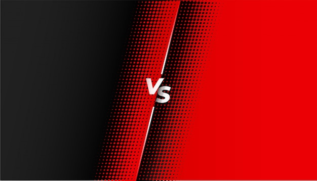 Red and black halftone versus vs banner design