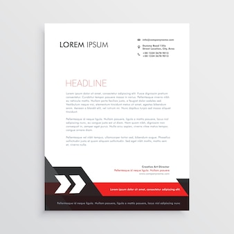 Red black letterhead template design