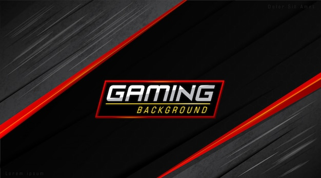 Red and black modern gamers background
