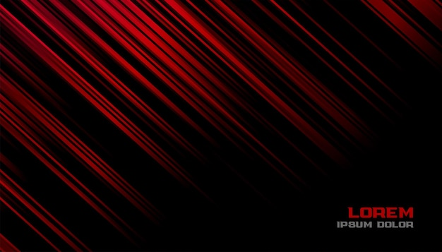 Red and black motion lines background design