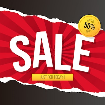 Red & Black Sale Background