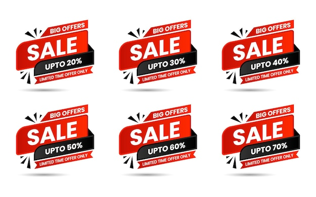 Red and black sale special offer and price tags