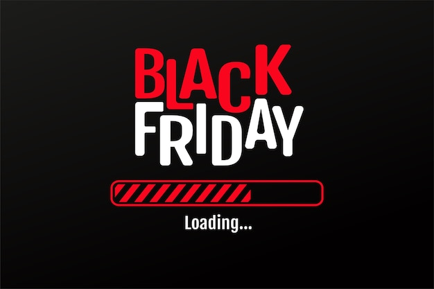 The red and black star loading bar is starting the blackfriday sale.