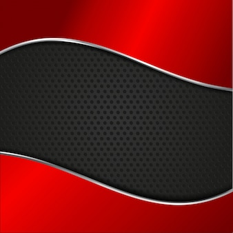 Red and black wavy background