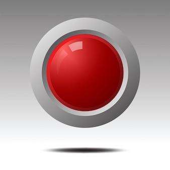 Red blank button for icon design