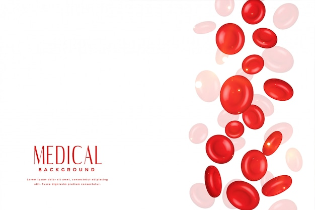 Red blood cell in 3d medical concept background