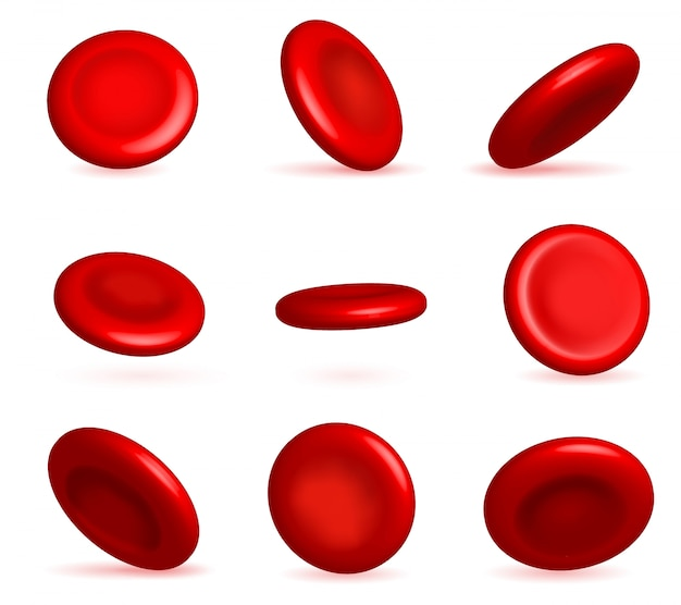 Red blood cells stream