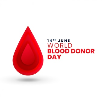 Red blood drop world blood donor day