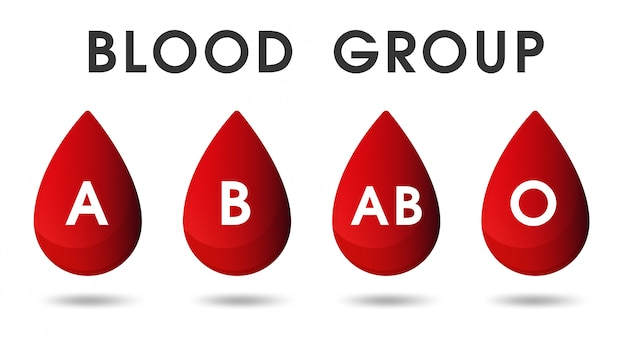 Red blood drops and blood donations by blood.