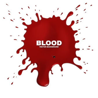 Red blood splatter grunge background. stain of paint, artistic spot ink illustration