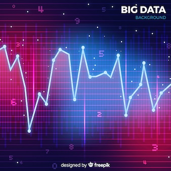 Red and blue abstract style big data background