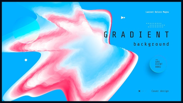 Red and blue fluid wave duotone geometric compositions with gradient 3d flow shape