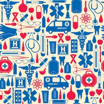 Red and blue medical pattern