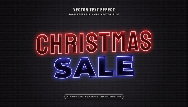 Red and blue neon text effect
