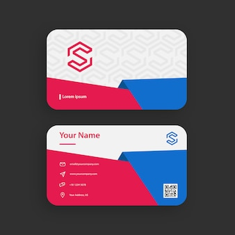 Red and blue papercut business card