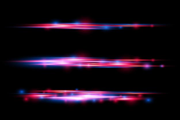 赤青特殊効果レーザービーム水平光線モーション高速線の動きの魔法