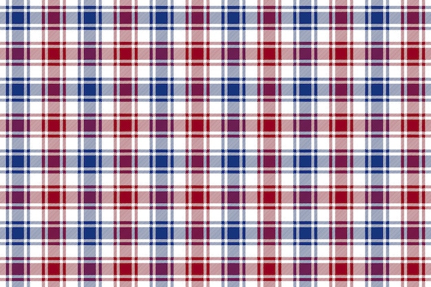 赤青白チェック格子縞のテクスチャのシームレスなパターン背景
