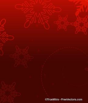 Bokeh rosso con fiocchi di neve astratto sfondo