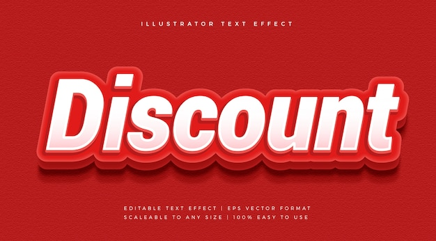 Red bold discount text style font effect