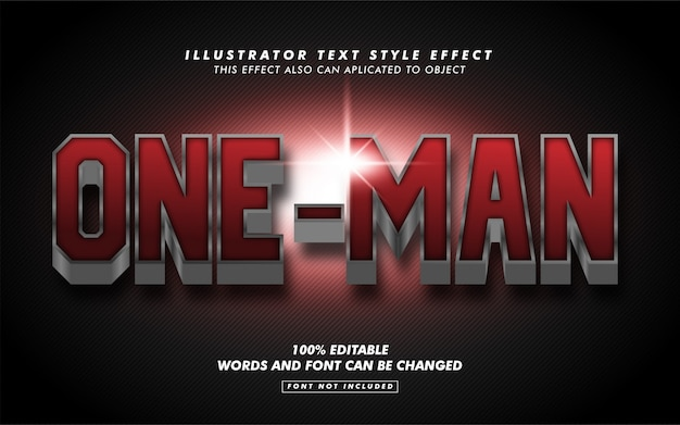 Red bold hero text style effect mockup