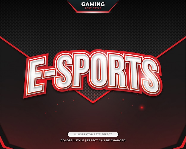 Red bold text style for e-sport team