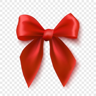 赤い弓は、現実的なリボンの図を分離しました