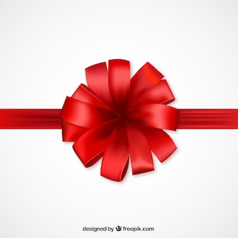 Red bow for present