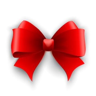 赤い弓。結ばれたリボン。