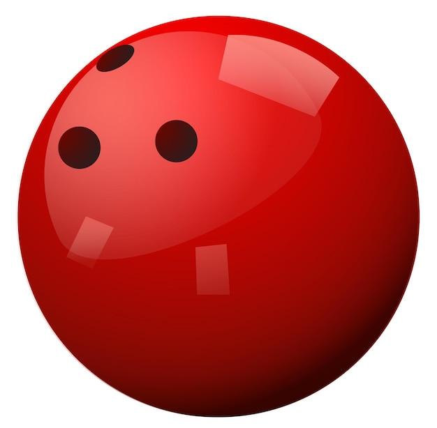 Palla da bowling rossa su sfondo bianco