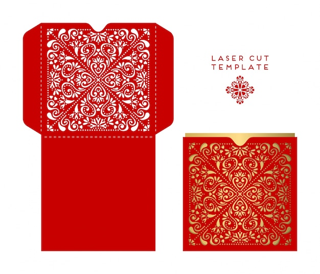 Red box, ethnic sred box with ornamenttyle