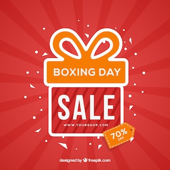 Red boxing day background