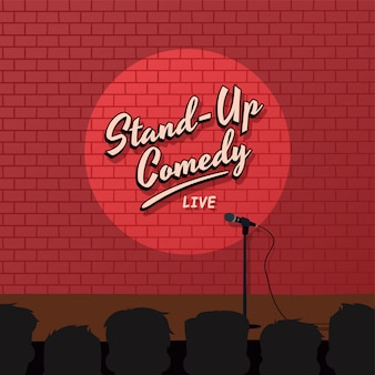 Red brick stand up comedy cartoon