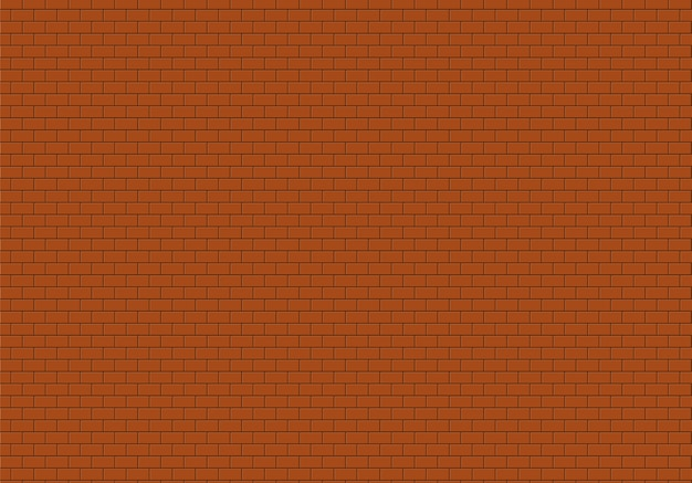 Red brick wall background. bricks texture seamless pattern vector.