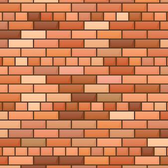 Красный фон кирпичной стены. векторная иллюстрация
