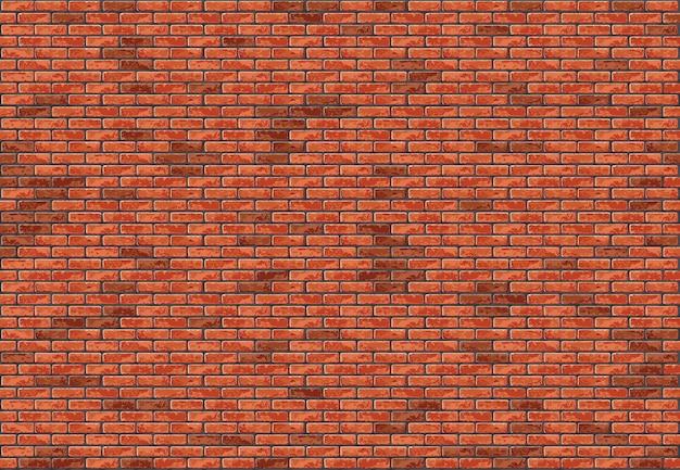 Красная кирпичная стена бесшовный фон