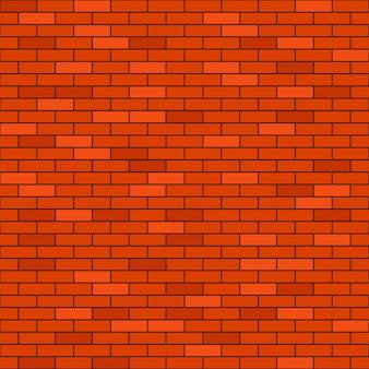 赤レンガの壁のシームレスな背景