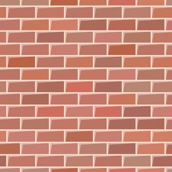 Текстура красной кирпичной стены. бесшовный фон. векторная иллюстрация
