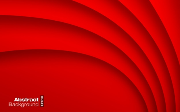 Red bright color wavy background. business card.