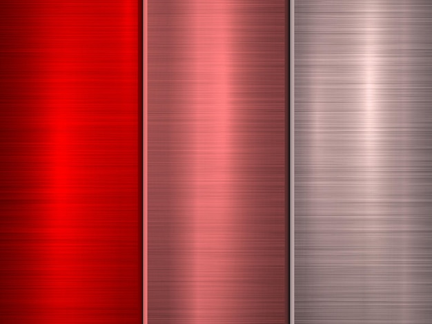 Red bronze and pink metal technology background with polished brushed circular concentric texture