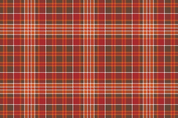 Red brown check square pixel seamless background