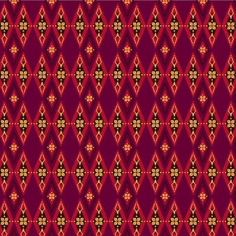 Red and brown songket pattern