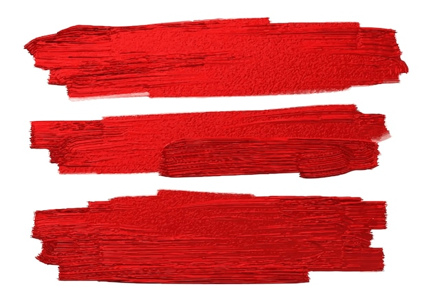 Red brush stoke texture on white background