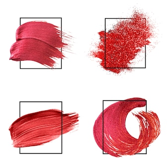 Red brush strokes collection