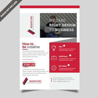 Red business flyer design