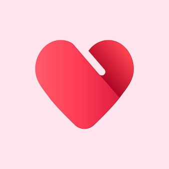 Red business logo  heart shape icon design