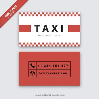 Red card of taxi driver