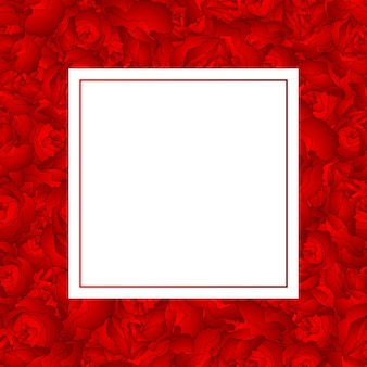 赤いカーネーションフラワーバナーカード